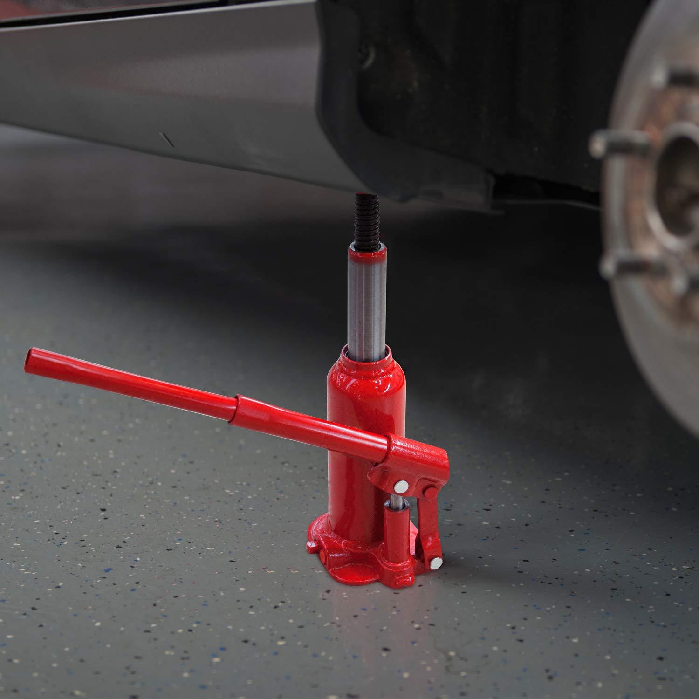 Gato hidraulico de botella 10 toneladas 10000 kg con homologacion CE 10tn para elevar coches: Amazon.es: Bricolaje y herramientas