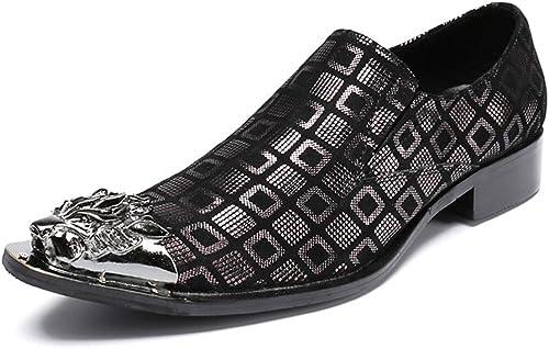 XWDQ Chaussures d'affaires pour Homme Nouveau Beanie chaussures Angleterre Chaussures Décontracté Hommes Décontracté
