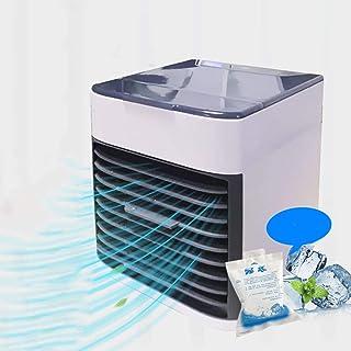 POWM Aire Acondicionado Portatil Enfriador De Aire Enfriamiento Y HumidificacióN Ventilador Fuente De AlimentacióN USB Oficina Velocidad De Viento De Tres Bloques, Luz Nocturna Led