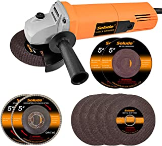 Angle Grinder,5 inch Power Grinder Tool with 4 Grinding...