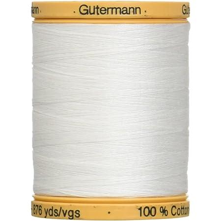 Natural Cotton Thread Solids White 3281-Yard