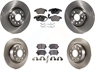 KT037781 Fits: 2014 14 2015 15 Fits Nissan Frontier V6 Max Brakes Front Elite Brake Kit E-Coated Slotted Drilled Rotors + Ceramic Pads