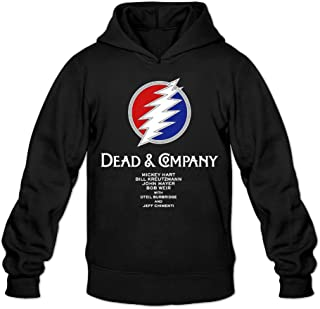 YQUE Men's Dead & Company Hoodies Hooded Sweatshirt Black
