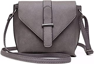 Women's Shoulder Bag, Medium Capacity pu Leather Clutch, Simple Retro Messenger Bag, Suitable for Dating, Gifts,Gray