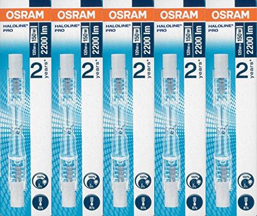 5 Stück Halogenstab 64695 120 Watt 230 Volt R7S - Osram