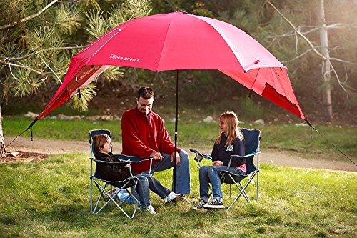 Sport-Brella Super-Brella Sun and Rain Beach Umbrella, Blue