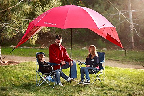 Sport-Brella Super-Brella Sun and Rain Beach Umbrella, Blue