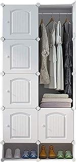 Garde-robe XINYALAMP Armoire d'armoire Armoire Portable Armoire Meuble modulaire pour l'organisateur de Rangement idéal Cu...