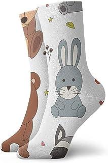Tammy Jear, Funny Bunny Bear Fox Crew Casual Calcetines cortos para hombres Mujeres