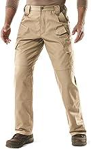 CQR Men's Tactical Pants, Water Repellent Ripstop Cargo Pants, Lightweight EDC..