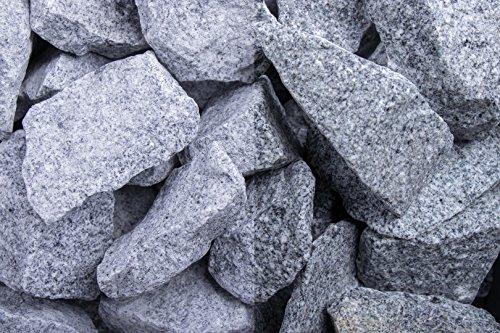 Kies Splitt Zierkies Edelsplitt Steinschlag Granit Grau SS, 32-56 mm 250 kg