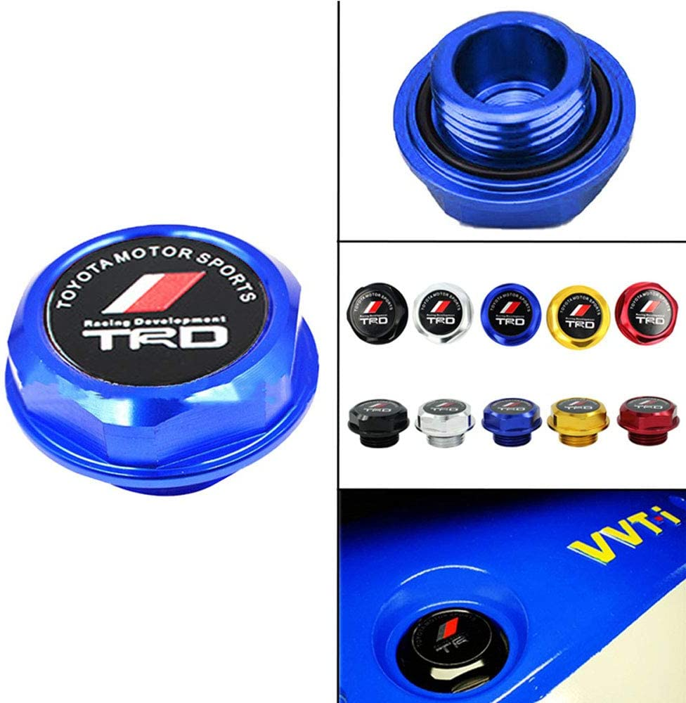 Black TRD Racing Stainless Steel Engine Oil Filler Cap Oil Tank Cover for TOYOT A TRD.