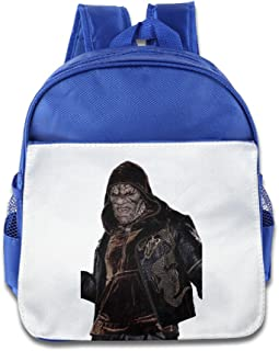XJBD Custom Cool Suicide Squad Killer Croc Hoodie Face Children Shoulders Bag For 1-6 Years Old RoyalBlue