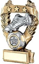 Lapal Dimension Brz/Pew/gouden voetbal 3 sterren krans Award Trofee (1 in centrum) - 7,5 inch