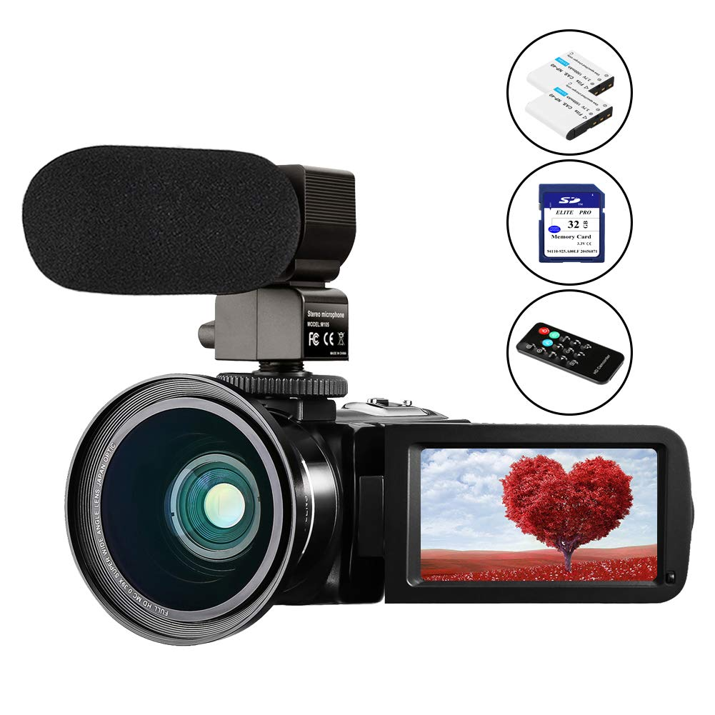 Video Camera for YouTube Camcorder Vlogging Camera Aasonida 24MP FHD 1080P Digital Camera with IR Night Vision Microphone Remote Control