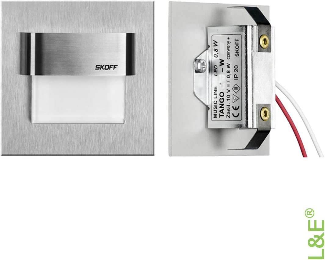 SKOFF LED Einbauleuchte TANGO 9V Edelstahl gebürstet. 9x ...