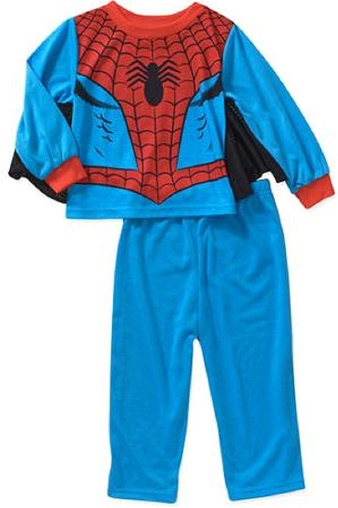 Spiderman Toddler Boy 3-piece Caped Pajama Set (24m)