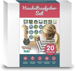 WOLFF KIDS Planer tygodniowy, zestaw gospodarstwa domowego, 20 magnesów jako planer zadań, planer gospodarstwa domowego, m...