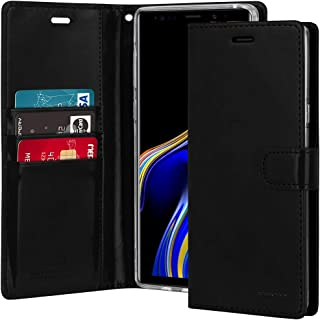Goospery Blue Moon Wallet for Samsung Galaxy Note 9 Case (2018) Leather Stand Flip Cover (Black) NT9-BLM-BLK
