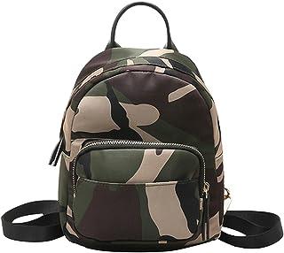 Monique Women Fashion Backpack Handbag Casual Basic Daypack Mini Shoulder Bag 2518 Camouflage
