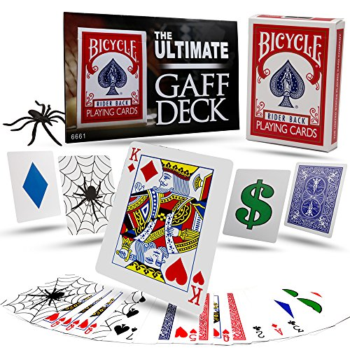 Magic Makers Ultimate Gaff Deck - Packet Tricks and Gaff Cards in Bicycle Stock