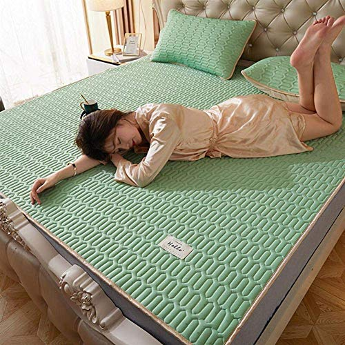 Faltbare Ice Silk Latex-Matratze, Sommer-EIS-Silk Matratze Atmungsaktiv Und Weich Mit Pillowcase180 * 200cm