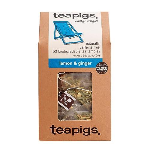 teapigs Lemon and Ginger Tea 125 g (Pack of 1, Total 50 Tea Bags)