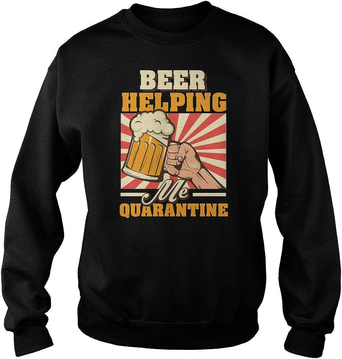 TeeWarrior Beer Max latest 56% OFF Helping Me Survive T-Shirt Quarantine