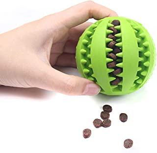 Li-Never Pet Sof Pet Dog Toys Toy Funny Interactive Elasticity Ball Dog Chew Toy for Dog Tooth Clean Ball of Food Extra Tough Rubber Ball