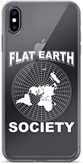 iPhone X/XS Pure Clear Case Crystal Clear Cases Cover Flat Earth Society Conspiracy Theory Earther Transparent