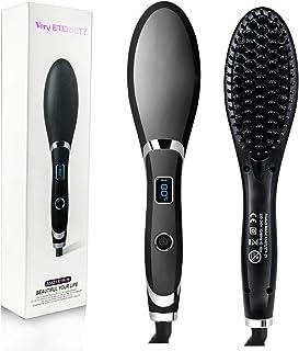 مو صاف کننده ورو ETERNITY، صاف کننده سرامیک یونجه سرامیکی با صفحه نمایش LED و تابع گرمایش MCH، ضد استاتیک، Detangling و ابریشمی راست، سیاه