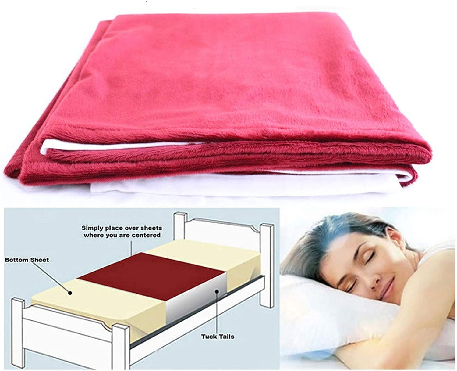 Cycleliners Period Bed Sheets Predector - Waterproof, Leakproof and Reusable Menstrual Bed Pad (King Burgundy)