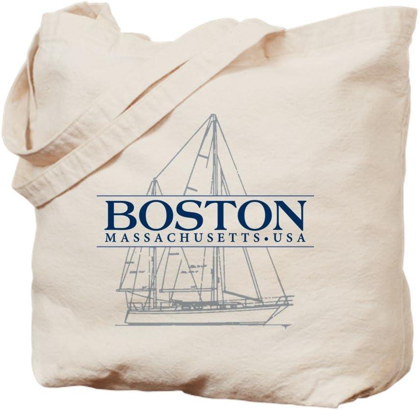 CafePress Boston Tote Bag Natural Canvas Tote Bag, Reusable Shopping Bag