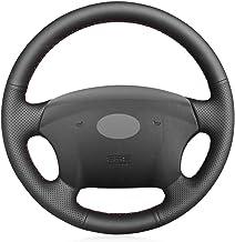 Unknow , para la Cubierta del Volante del Coche DIY de Cuero Negro de la PU, para Hyundai Azera 2005-2010 Sonata NF NFC 2005-2010, para Kia Carens 2007-2011