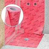 STEIGNER Membrana impermeabilizante para hidroaislamiento, Estera aislante, 1 m ancho 100cm Lámina de sellado color Rojo, Esterrilla de impermeabilización, Fibra selladora para Plato de ducha
