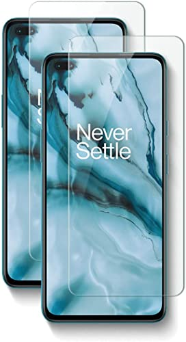 Rexez Tempered Glass Screen Protector For Oneplus Nord With Installation Kit Pack of 2