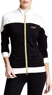 Isaac Mizrahi Women's Sport Color Blocked Track Jacket