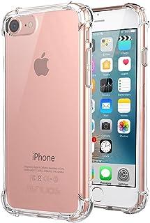 JENUOS iPhone8 / iPhone7 ケース 透明 耐衝撃 ストラップホール付き (クリア)