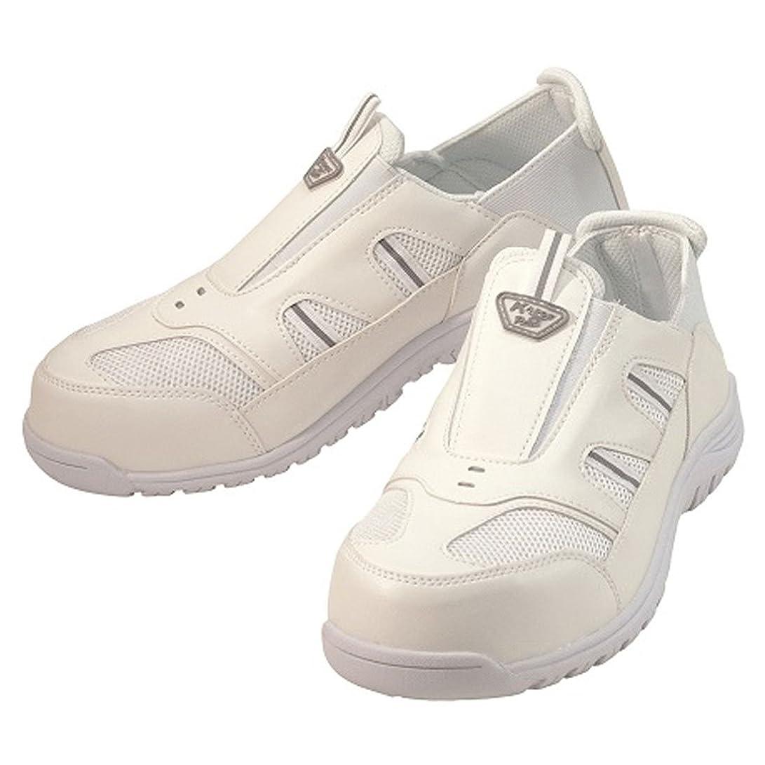 雪だるまを作る噴出するチラチラする安全靴 スニーカー クレオスプラス 作業靴 マルゴ 安全シューズ 樹脂先芯 メッシュ 反射 カカトが踏める 白 ホワイト 3E 男性 メンズ 女性 レディース 靴 シューズ