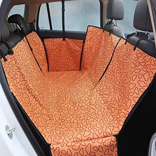 Huisdier rolstoel voor honden, verstelbaar, met veiligheidsgordel en tas, hangmat met zijkleppen, waterdicht, krasbestendig, Oranje.