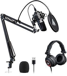 USB Microphone with Studio Headphone Set 192kHz/24 bit...