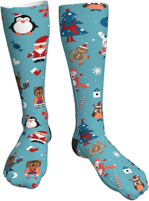 Cartoon Max 90% OFF Christmas Unisex Casual Crew Socks Now on sale Boy'S Long Girl