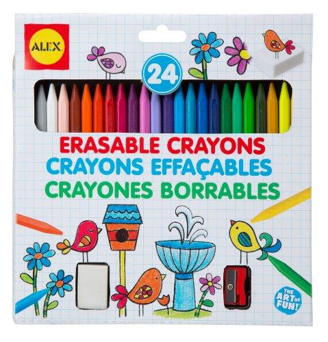 ALEX Toys Artist Studio 24 Erasable Crayons