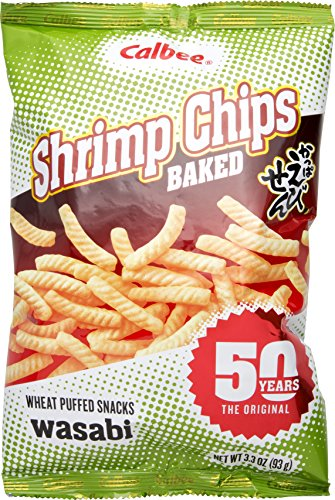 Calbee Shrimp Chips Wasabi, 3.3 oz (Pack of 3)