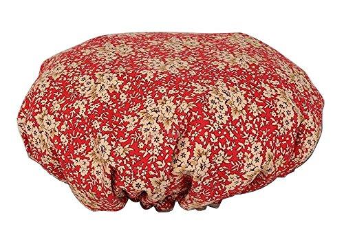 Bonnet de douche multifonction double couche, fleur-5
