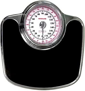 大型ダイヤルの体重計、機械式体重計 - レトロで正確な体重計、読みやすいアナログダイヤル、頑丈な金属製プラットフォーム、396ポンドの容量、ボタンや電池なし