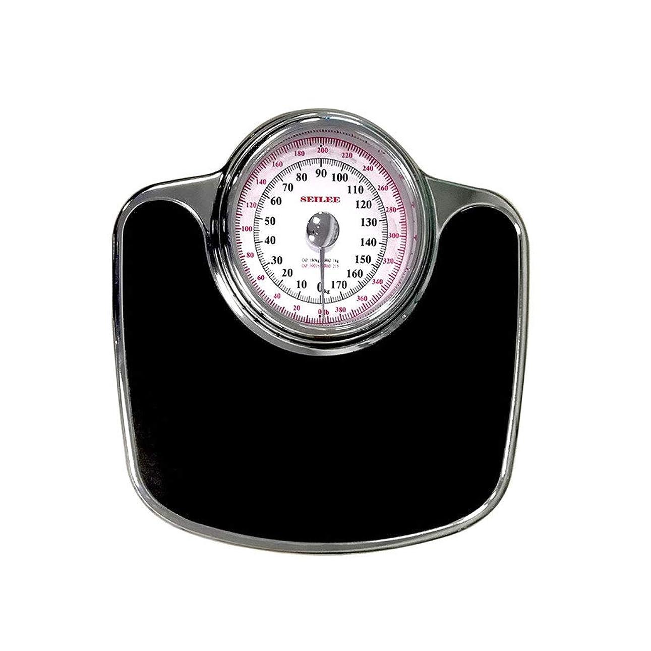 マーカー忠実なクリスチャン大型ダイヤルの体重計、機械式体重計 - レトロで正確な体重計、読みやすいアナログダイヤル、頑丈な金属製プラットフォーム、396ポンドの容量、ボタンや電池なし
