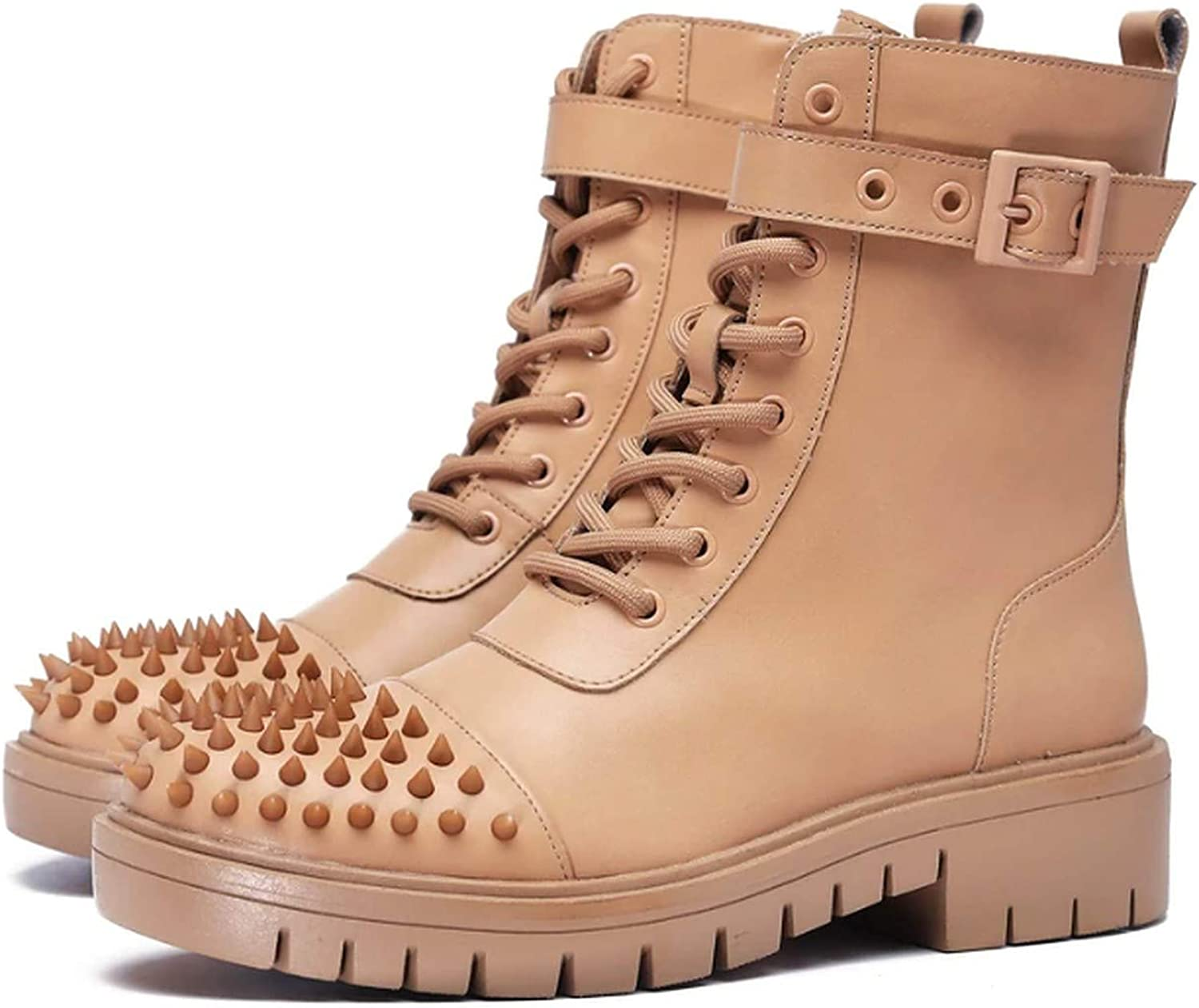 Women's Ankle Lace up Studded Booties