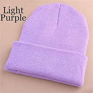 MZHHAOAN Knitted Neon Women Beanie Girls Autumn Elastic Cap Women's Warm Winter Hats Unisex 28 Colors