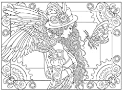 Dover DOV-99197 Steampunk Coloring Book (Creative Haven Coloring Books) #5